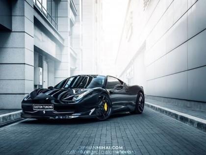 Filmare aeriana Ferrari 458 si Mercedes SL R231 Custom Wheels
